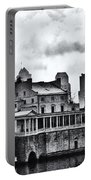 Winter At The Fairmount Waterworks In Black And White Portable Battery Charger