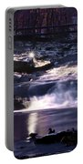 Winter At The Woodlands Waterfall In Wilkes Barre Portable Battery Charger
