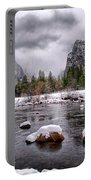 Winter At Valley View Portable Battery Charger