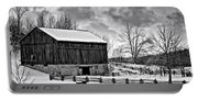 Winter Barn Monochrome Portable Battery Charger