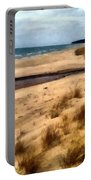 Winter Beach At Pier Cove Ll Portable Battery Charger