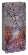 Winter Birches And Red Willows 1 Portable Battery Charger