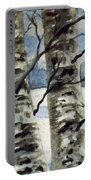 Winter Birches Portable Battery Charger