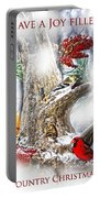 Winter Birds Christmas Card Portable Battery Charger