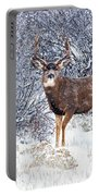 Winter Buck Portable Battery Charger by Darren  White