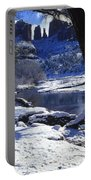 Winter Cathedral Rock Portable Battery Charger