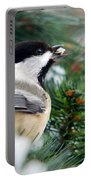 Winter Chickadee With Seed Portable Battery Charger