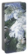 Winter Chickadees Portable Battery Charger