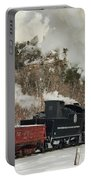 Winter Crossbuck Crossing Portable Battery Charger