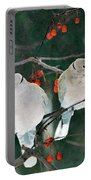 Winter Doves Portable Battery Charger