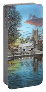 Winter Evening Tickhill Yorkshire Portable Battery Charger
