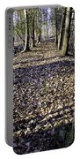 Winter Fall On The Trail Portable Battery Charger