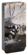 Winter Falls On Big Stone Lake  Portable Battery Charger