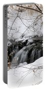 Winter Falls On Big Stone Lake Mn Portable Battery Charger