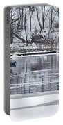 Winter Fishing - Wisconsin River Portable Battery Charger