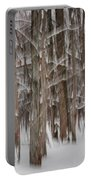 Winter Forest Abstract II Portable Battery Charger