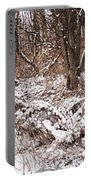 Winter Forest Panorama Portable Battery Charger