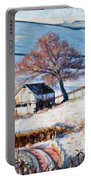 Winter Frost Portable Battery Charger by Tilly Willis