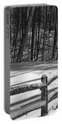 Winter Hut In Black And White Portable Battery Charger