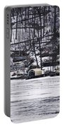 Winter Ice Lake Scene Hopatcong Covered Port Portable Battery Charger