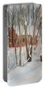 Winter In Campton New Hampshire Portable Battery Charger