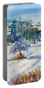 Winter In Lourmarin Portable Battery Charger