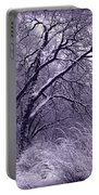 Winter In Purple Portable Battery Charger