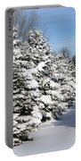 Winter In The Pines Portable Battery Charger
