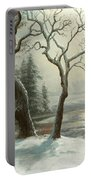 Winter In Yosemite Portable Battery Charger