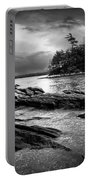 Winter Moonlight Wolfes Neck Woods Maine Portable Battery Charger by Bob Orsillo