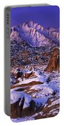 Winter Morning Alabama Hills And Eastern Sierras Portable Battery Charger