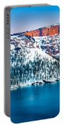 Winter Morning At Crater Lake Portable Battery Charger