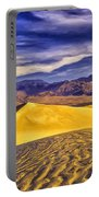 Winter Morning At Death Valley Portable Battery Charger
