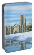 Winter Morning Fountains Abbey Yorkshire Portable Battery Charger