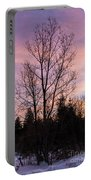 Winter Morning Sky Portable Battery Charger