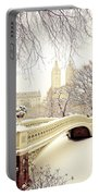 Winter - New York City - Central Park Portable Battery Charger