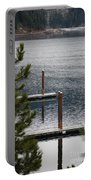 Winter On Lake Coeur D' Alene Portable Battery Charger