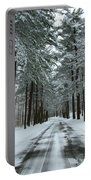 Winter On Mohegan Park Road Portable Battery Charger