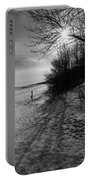 Winter On The Beach  Portable Battery Charger