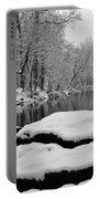 Winter On The Wissahickon Creek Portable Battery Charger
