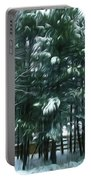 Winter Pine Tree  Portable Battery Charger