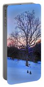 Winter Poplar Tree Portable Battery Charger