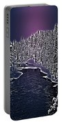 Winter River Oulanka National Park Lapland Finland  Portable Battery Charger