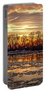 Winter River Sunrise Portable Battery Charger