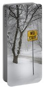 Winter Road During Snowfall IIi Portable Battery Charger