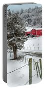 Winter Road Square Portable Battery Charger by Bill Wakeley