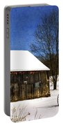 Winter Scenic Farm Portable Battery Charger