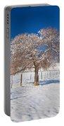 Winter Season On The Plains Portrait Portable Battery Charger