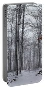 Winter Storm In The Forest Portable Battery Charger