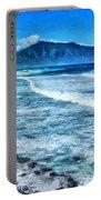 Winter Storm Surf At Ho'okipa Maui Portable Battery Charger